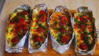 Ужин без хлопот простой быстрый ужин Запеченное куриное филе с картофелем и помидорами