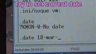 Year 2000 problem/symptom on PDP-11/23  running  RT-11 V05.04 from 1987