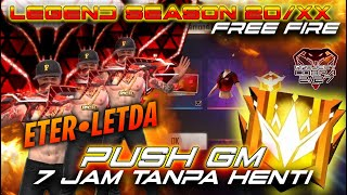 Download lagu ROAD TO GRAND MASTER 7 JAM NONSTOP?!! SEASON 20/XX FREE FIRE INDONESIA - LETDA HYPER !