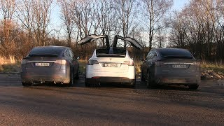 testing Tesla Model X Falcon Wing Doors in Mall Parking Lot with Kids