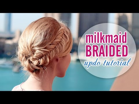 glammed-up-milkmaid-braid,-60s-look-★-wedding/prom-updo-hairstyle-for-long-hair-tutorial