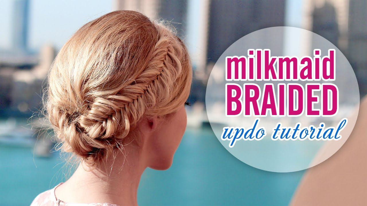 Glammed Up Milkmaid Braid 60s Look ★ Wedding Prom Updo Hairstyle For