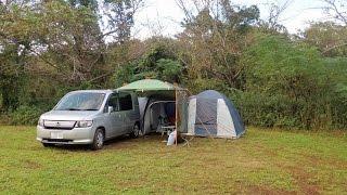 テントとストーブを購入。 好天に恵まれた森のまきばオートキャンプ場で...