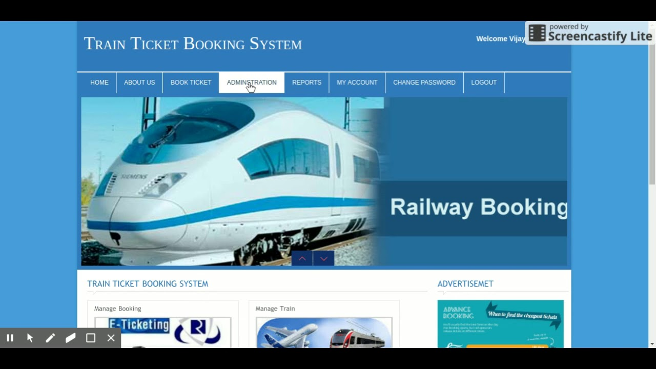 Train Ticket Booking System