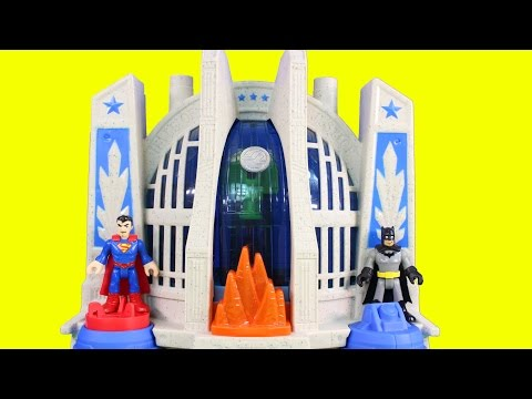 Imaginext Justice League Superman & Batman Surprise Flash Aquaman Green Lantern With Hall Of Justice
