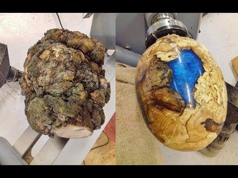 Woodturning One Big Ugly Burl Into A Dragon Egg Youtube