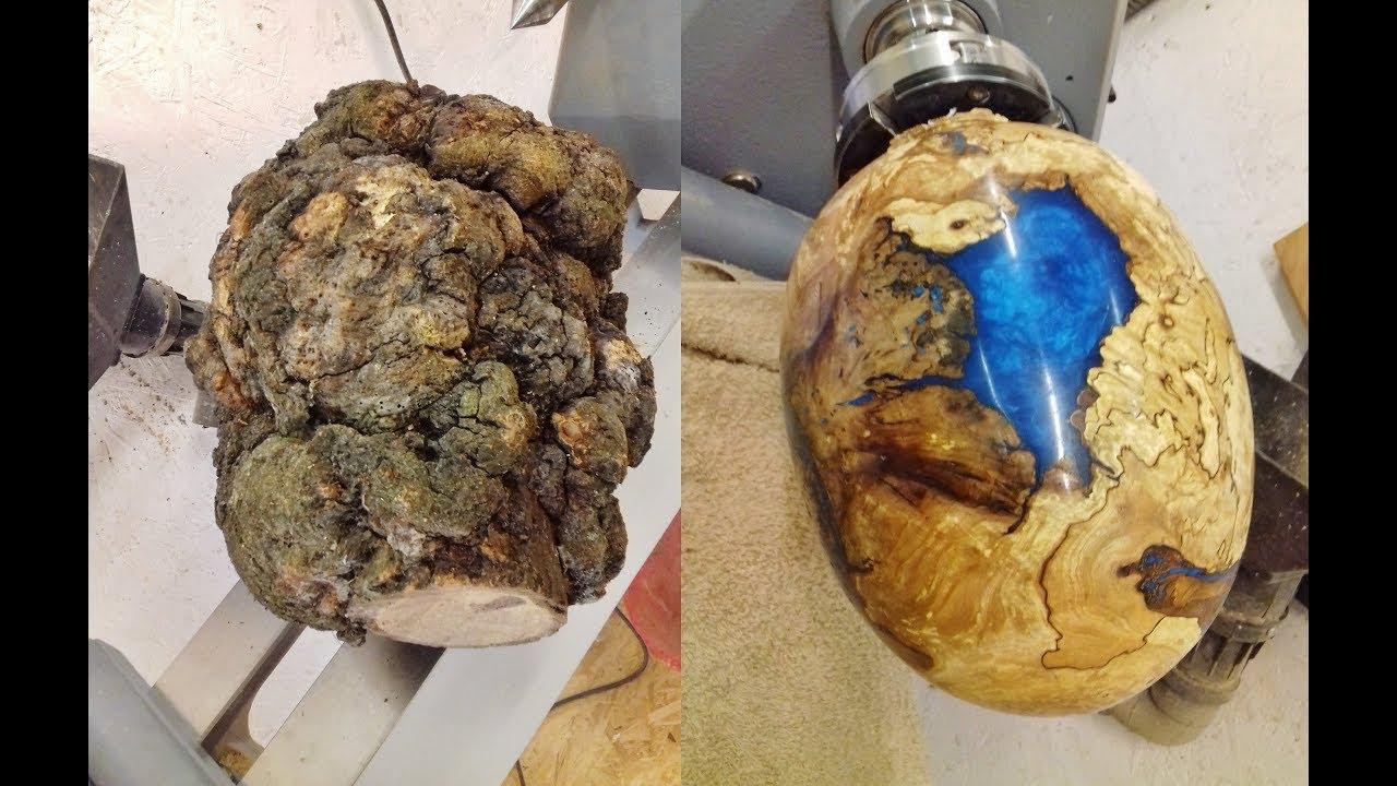 Woodturning One Big Ugly Burl Into A Dragon Egg