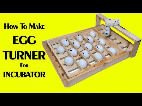 Egg turner automatic incubator - egg turner - auto turning egg tray - homemade incubator