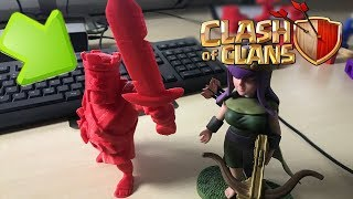 Clash of Clans King 3D Print TIMELAPSE