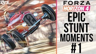 Forza Horizon 4 - EPIC STUNT MOMENTS #1