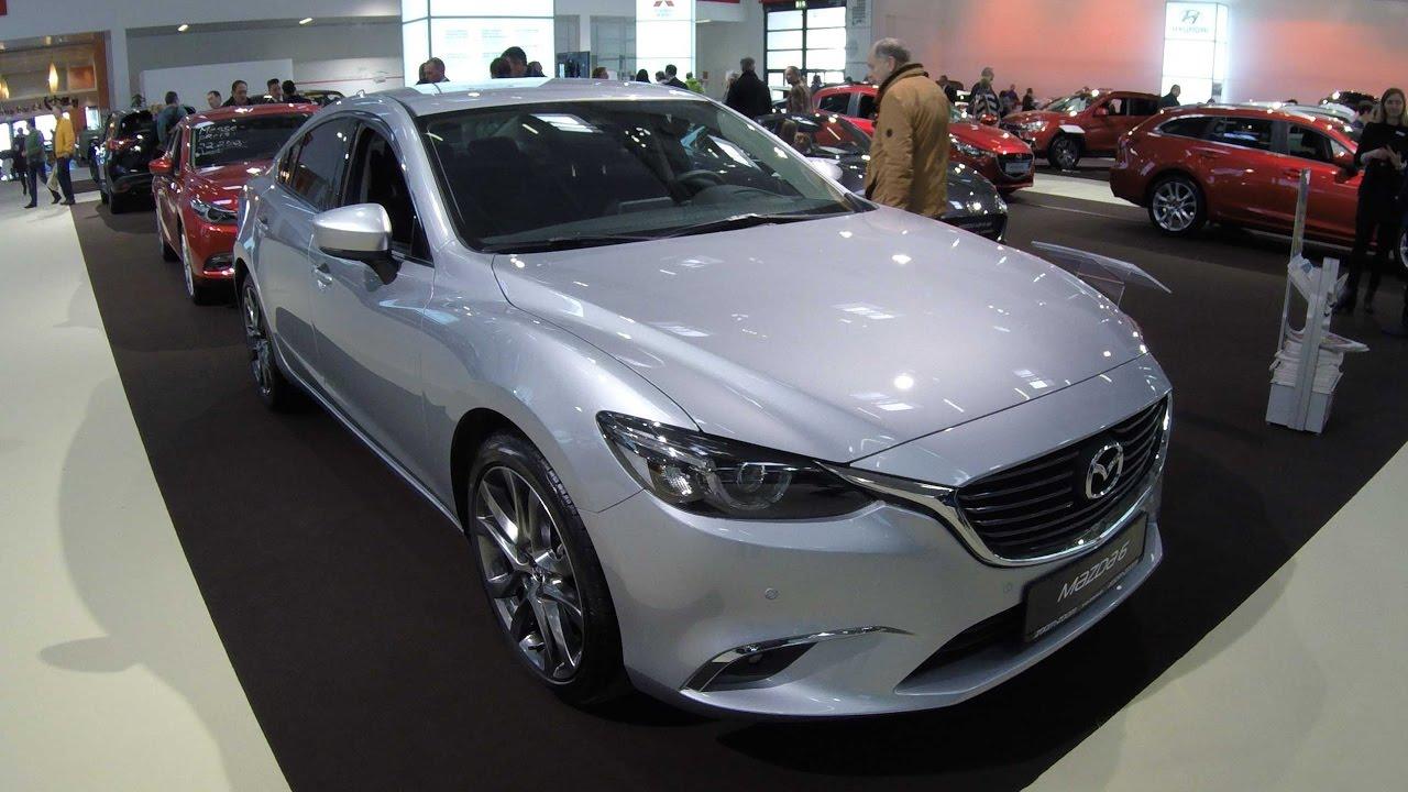 Mazda 6 Sports Line Model 2017 Diamant Silver Colour Walkaround And Interior