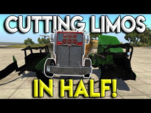 JEEP LIMO GETS SPLIT IN HALF BY DIESEL! - BeamNG Drive Gameplay & Crashes - Police Chases & Crashes