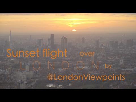 Sunset flight over London
