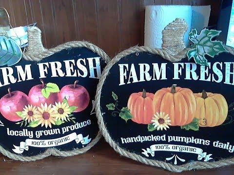 Dollar Tree DIY Fall Farm Fresh Signs