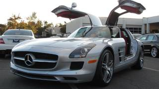 2012 Mercedes-Benz SLS AMG Start Up, Exhaust, and In Depth Tour(In this video I give a full in depth tour of the mighty 2012 Mercedes-Benz SLS AMG. I take viewers on a close look through the interior and exterior of this car ..., 2011-10-29T04:40:00.000Z)