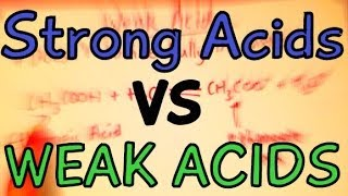 Chemistry Help: Strong Vs Weak Acids explained in 3 minutes