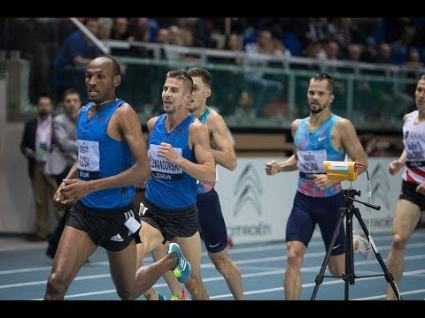 Taresa Tolosa 1500m men's 3:37.41 - IAAF WORLD INDOOR TOUR TORUN 2018