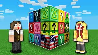 Minecraft: BATALHA COM 15 LUCKY BLOCKS DIFERENTES!!!