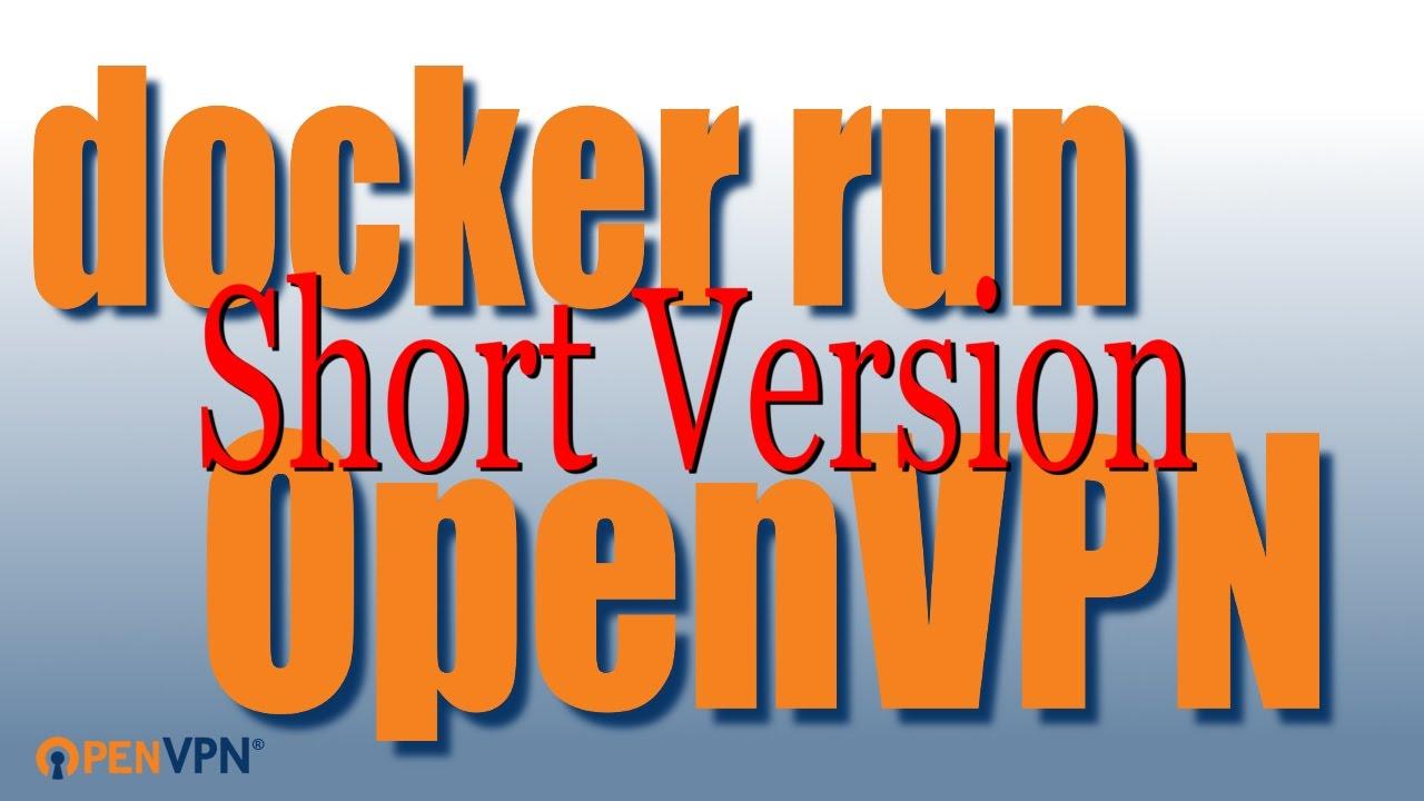 Docker run OpenVPN 'short version'