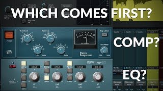 Studio One Minute: EQ or Compressor First?