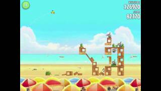 Angry Birds Rio Golden Beachball Level #5 Walkthrough