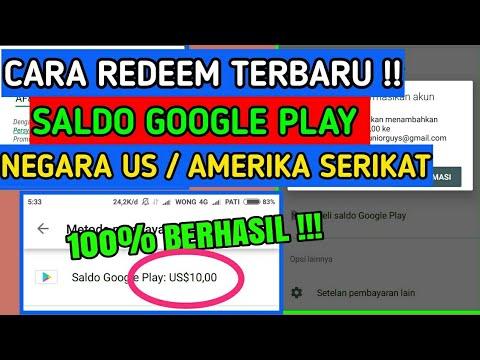 TERBARU !! Cara Tukar Saldo Google Play Negara US / Amerika Serikat Dengan Cepat Dan Mudah