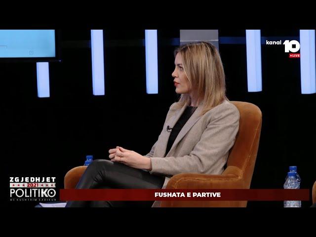 Zëdhënësja e PSD-së, Natyra Kuçi në Politiko, Kanal 10 - 05 02 2021