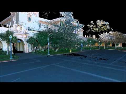 3-D Laser Scan of Plaza de Panama at Balboa Park by Rick Engineering