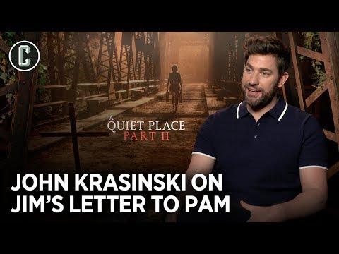 John Krasinski Reacts To Jenna Fischer's Revelation About The Jim/Pam Note From The Office