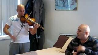 Bish on violin ( hawel ya ghanam).wmv