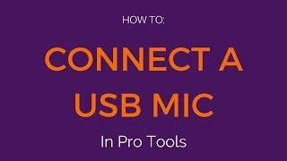 Het aansluiten van een USB-microfoon voor Pro Tools (Mac)