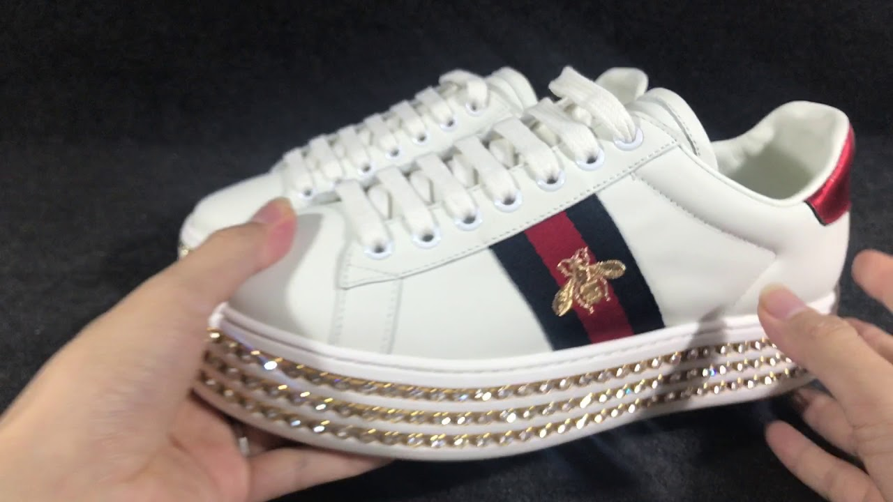 Gucci ace sneaker with crystals - YouTube