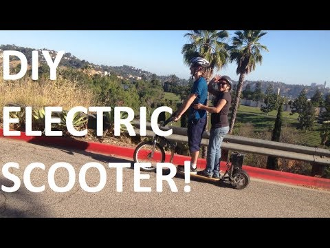 (Time Lapse) DIY Electric Scooter - We make it electric!