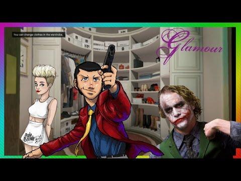 GTA Online GIOVEDì' GLAMOUR somigliare a MILEY CIRUS, JOKER e Lupin III