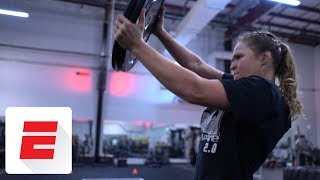 All-access look into Ronda Rousey's 4-hour workout leading up to WrestleMania 34   ESPN
