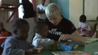 annie lennox visit to open arms malawi may 2011