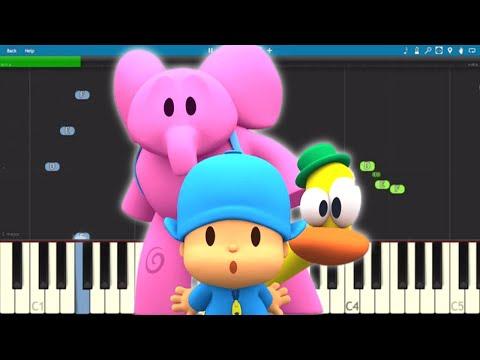 Pocoyo Theme Song - EASY Piano Tutorial
