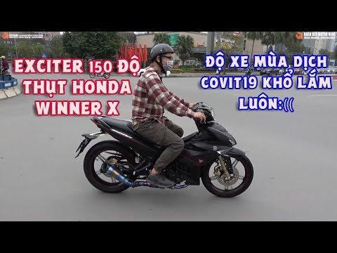 Exciter 150 Độ thụt trước Winner X Quá Êm và Đẹp. Khắc Phục Lỗi Cục Cục của Ex150 l Quân Béo Motor
