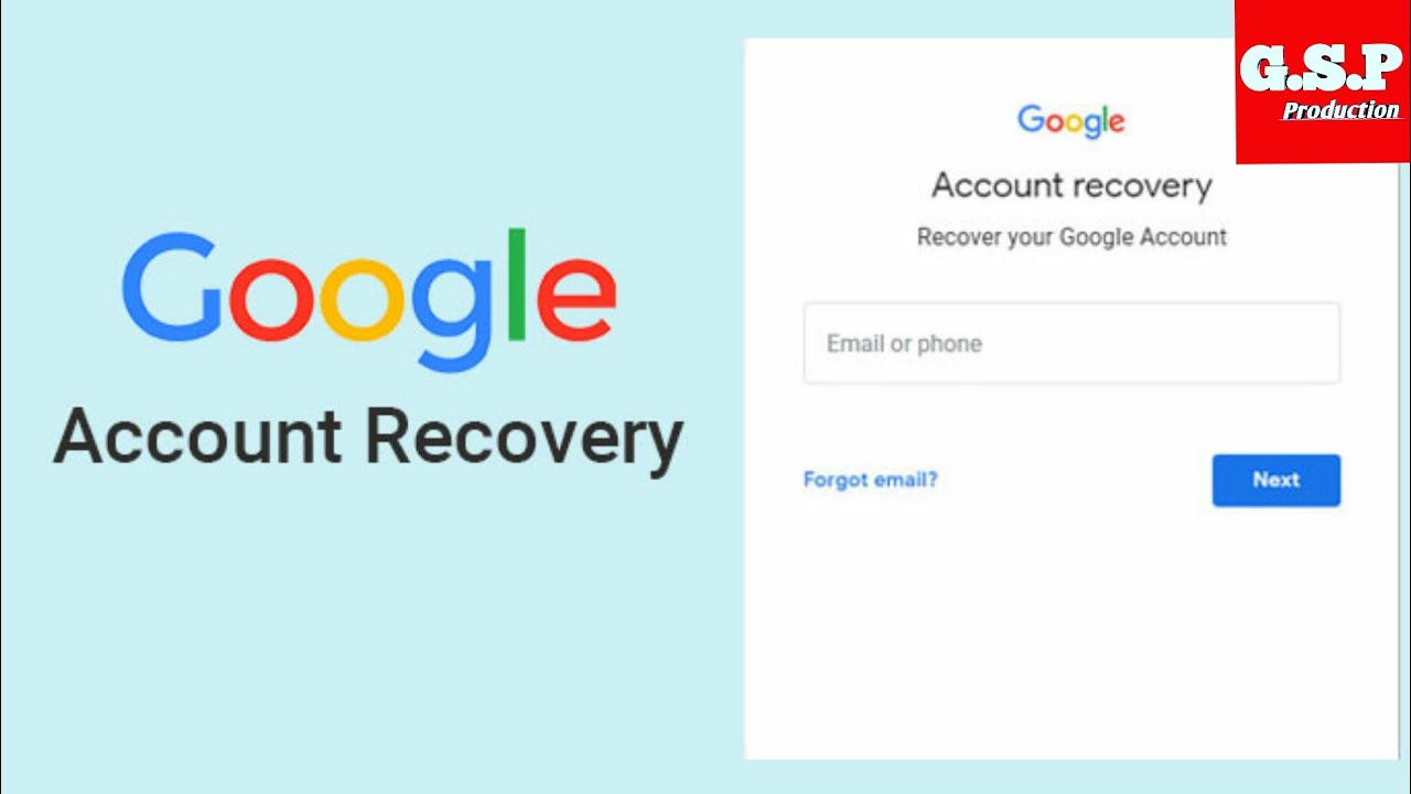 How to recovery your Google account if you lost or forgot your number and your recovery email