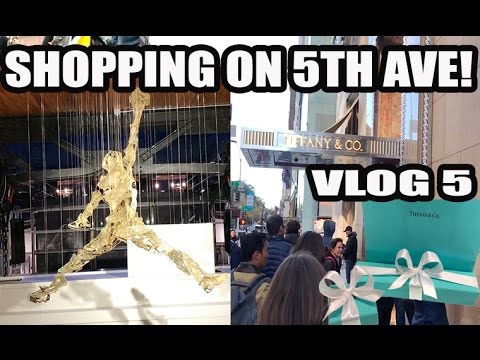SHOPPING ON 5TH AVE IN NEW YORK! TIFFANY & CO / NIKE (VLOG 5)