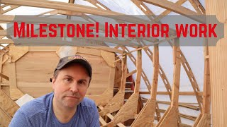 Home built wooden boat state room deck beam install and other interior boat work.  Episode #43