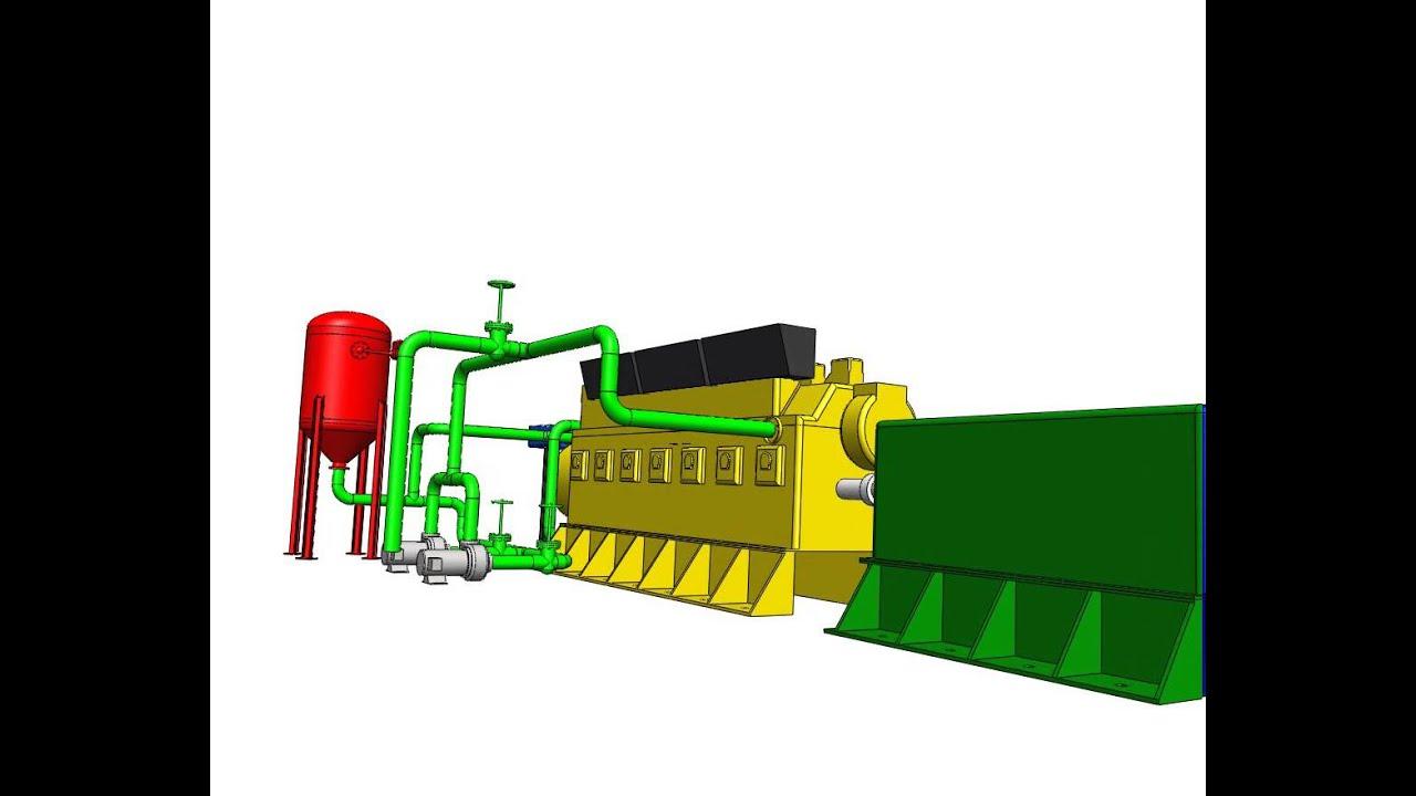 Animation Walkthrough Diesel Power Generation Youtube Plant Block Diagram