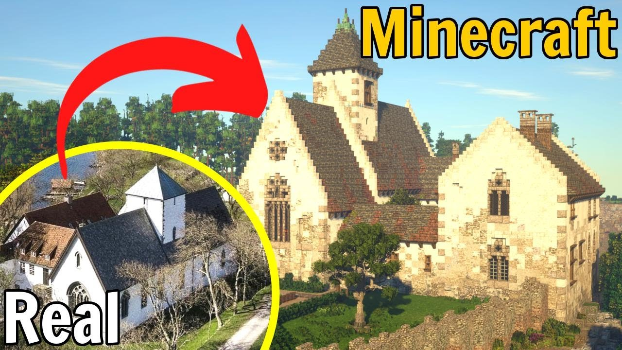 I Recreated this MEDIEVAL ABBEY in Minecraft