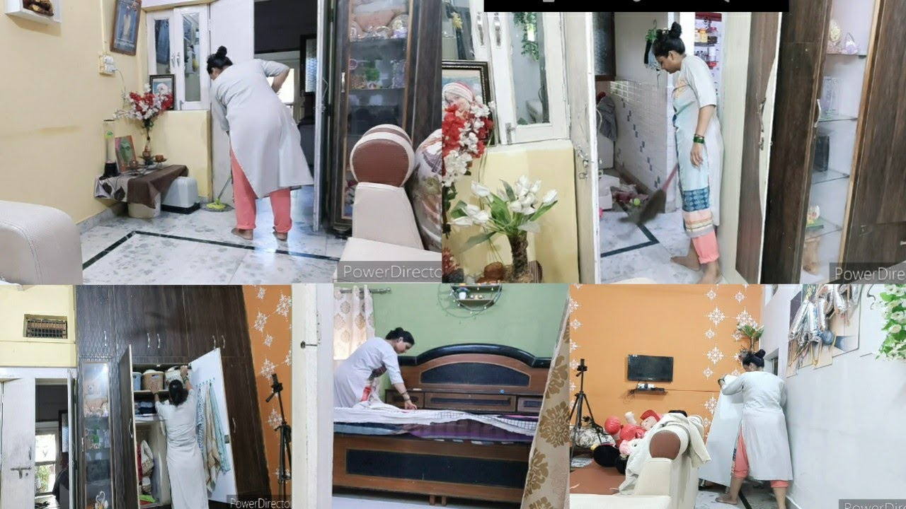मथुरा से लोटकर कर दी पूरे घर 🏡की सफाई सुबह से दोपहर तक करनी पडी घर की  Cleaning...