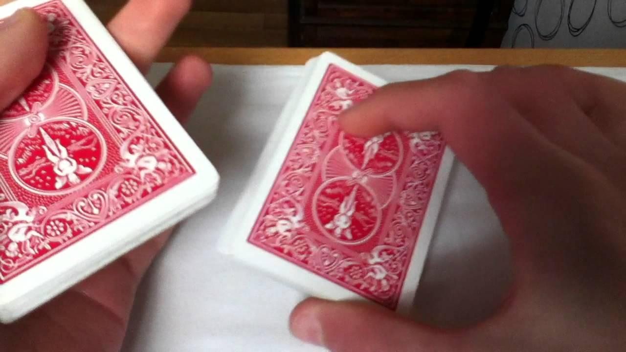 tour de magie carte fausse coupe