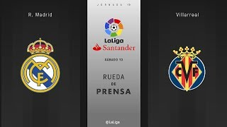 Rueda de prensa R. Madrid vs Villarreal