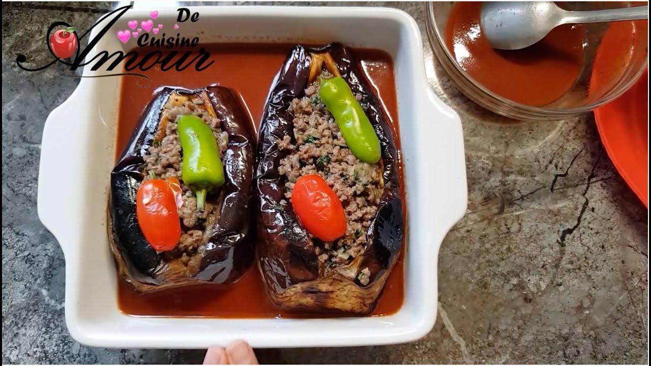 Aubergine farcie au four, recette de la cuisine turque ...