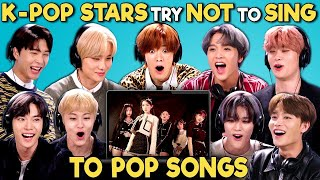 Download lagu K-pop Stars React To Try Not To Sing Along Challenge (NCT 127 엔시티)