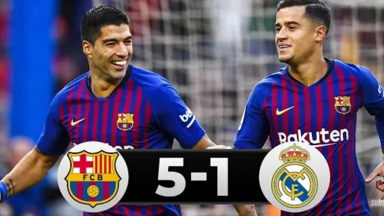 Barcelona vs Real Madrid 5-1 All Goals & Highlights 2019 ...