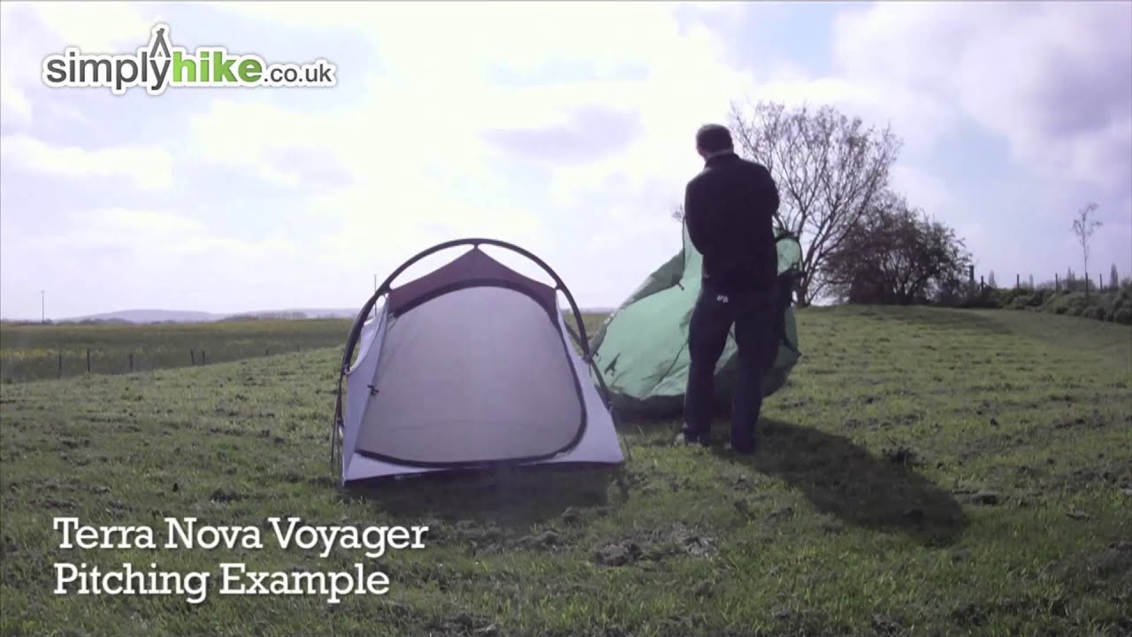 Terra Nova Voyager Pitching Ex&le - .simplyhike.co.uk & Terra Nova Voyager Pitching Example - www.simplyhike.co.uk - YouTube